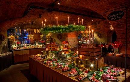 Julbord på Vaxholms Kastell, Pansarbatteriet