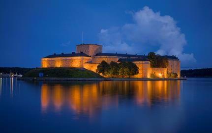 Vaxholms Kastell kvällsbild