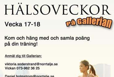 Hälsoveckor med Gallerian i Hallstavik