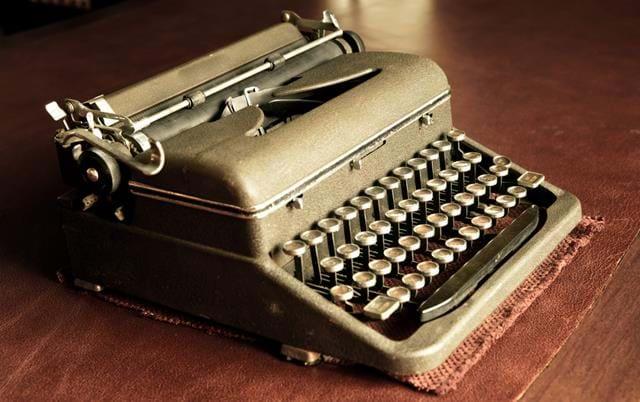 old vintage typewriter on table