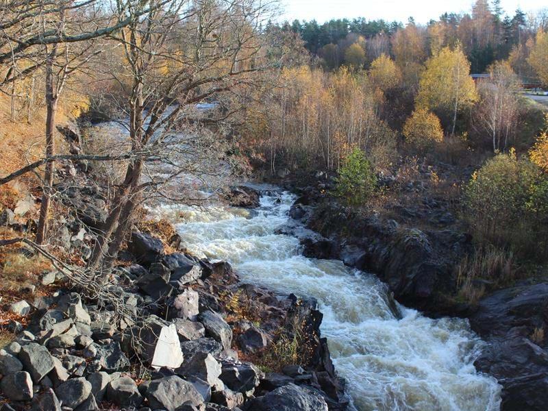 The salmon ladder in the Gullspång River