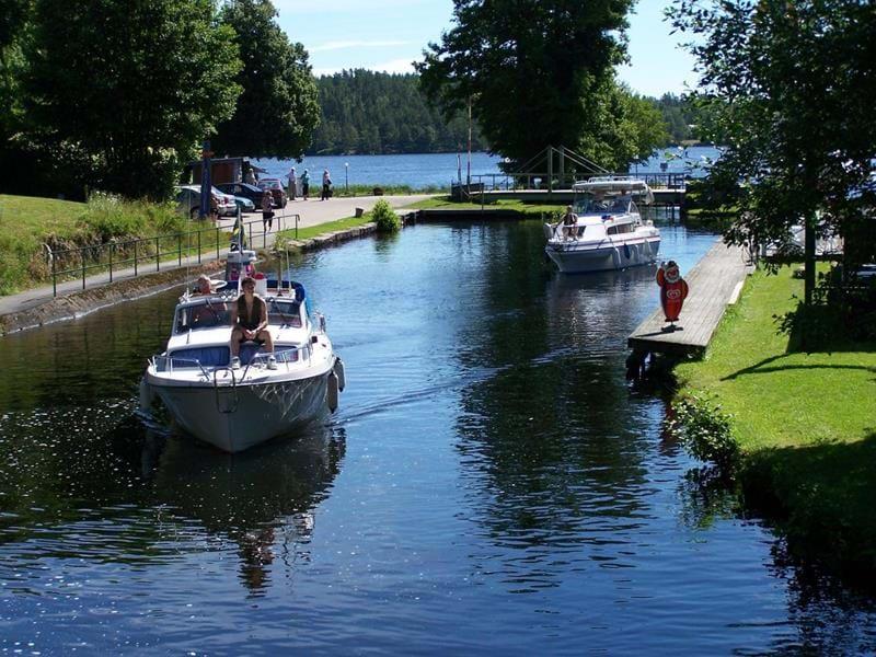 Der Dalsland Kanal und Aquädukt