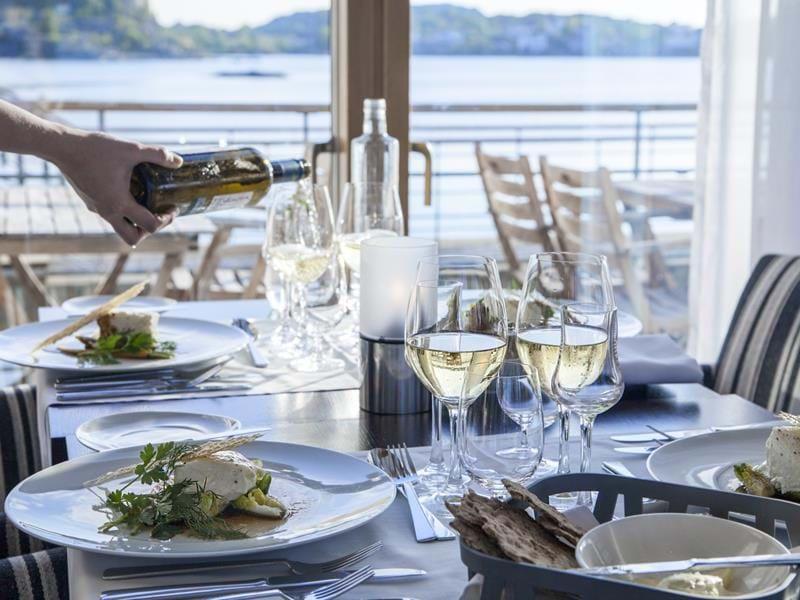Restaurang G på Gullmarsstrand i Fiskebäckskil