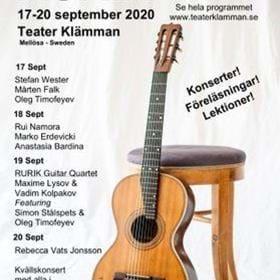 Unik händelse! Den första gitarrfestivalen för 7-strängad rysk gitarr kommer till Europa, tidigare bara i USA. Mitt i Sörmland landar 10 konsertgitarrister på detta unika instrument. Föreläsare/Artisterna kommer ifrån USA, Ryssland, Serbien, Norge, Tyskland, Portugal, Sverige.