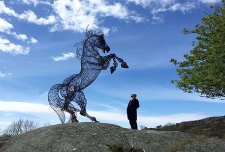 Skulptur i Pilane – djur, natur och konst 2017 - bild